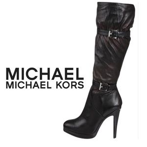 Michael Kors Veronica Leather Boots: 7.5